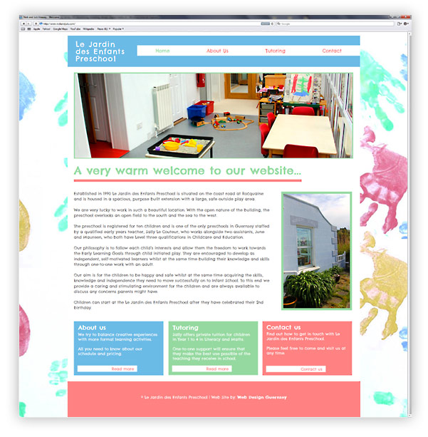 Le Jardin Preschool Website