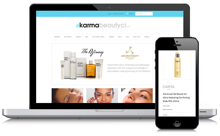 Karma Beauty Web Design