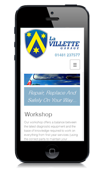 La Villette Garage Mobile Website Design