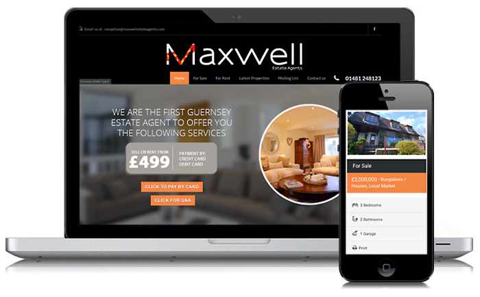 Maxwell Estate Agents Guernsey Website