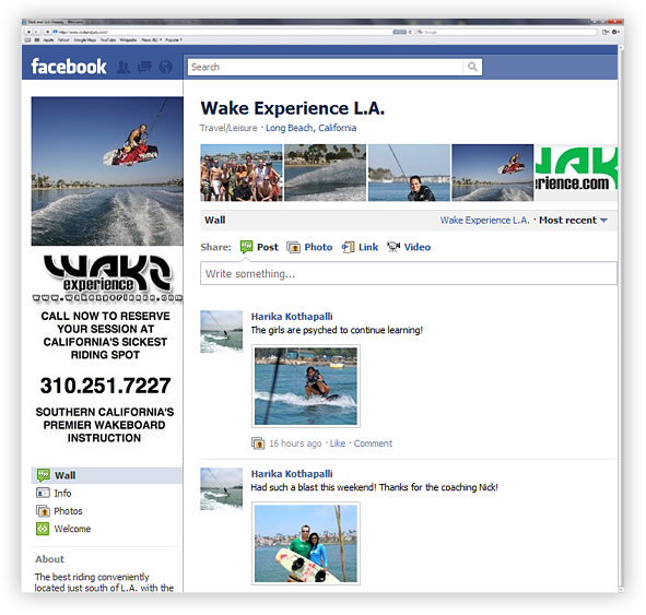 Wake Experience Facebook