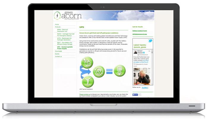 Green Acorn Website