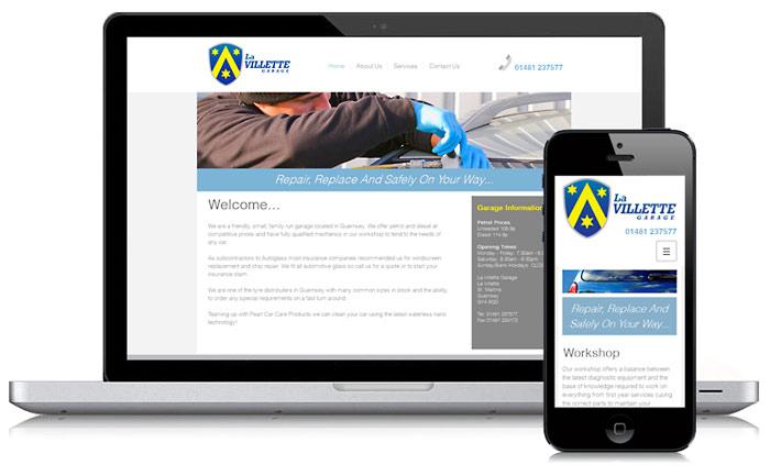 La villette Garage Website Guernsey