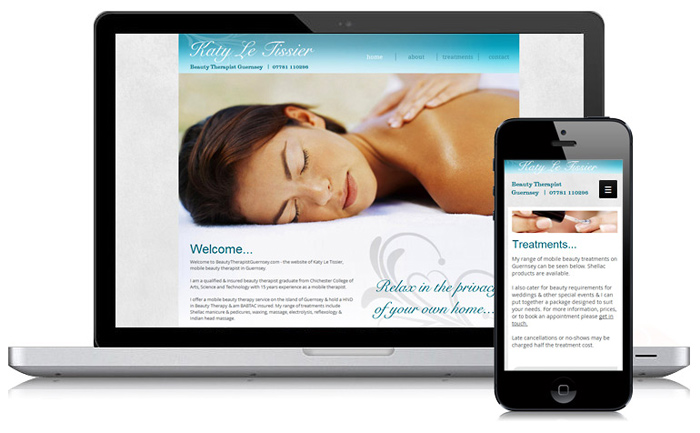 Mobile Beauty Therapy Guernsey Website