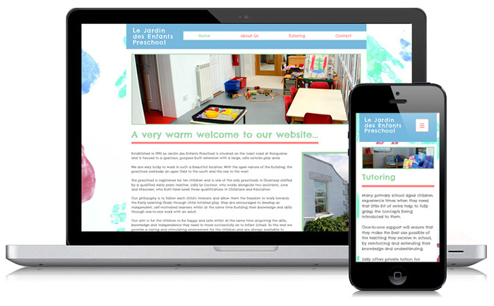 Le Jardin Preschool Guernsey Website