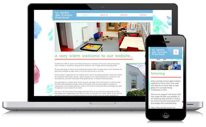 Le Jardin Preschool Guernsey Website