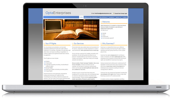 Opta Enterprises Website