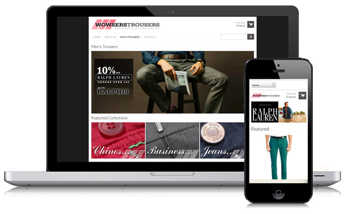 Wowsers Trousers Guernsey Ecommerce Website