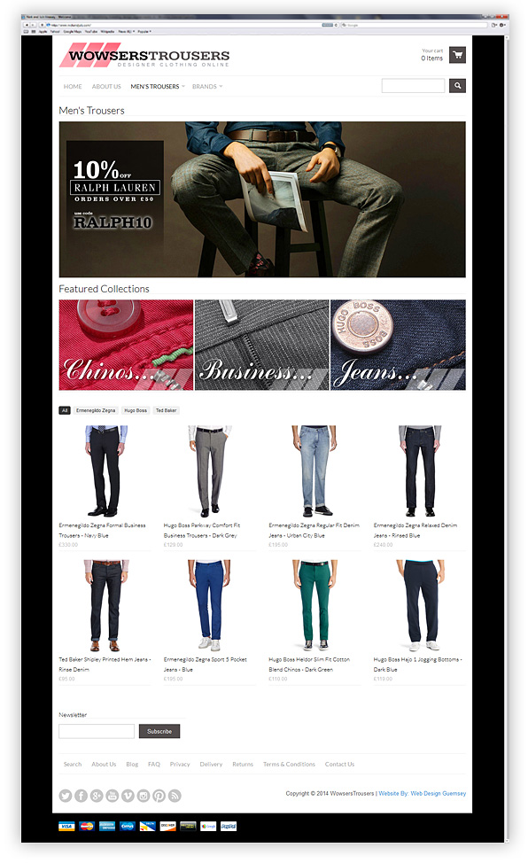 Wowsers Trousers E-Commerce Website