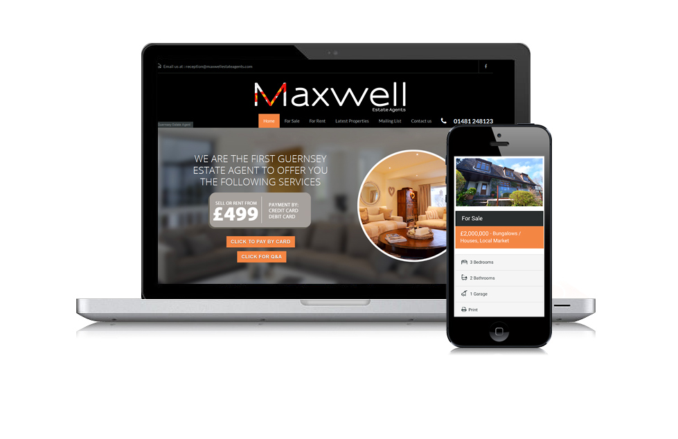 Maxwell Estate Agents Website Design