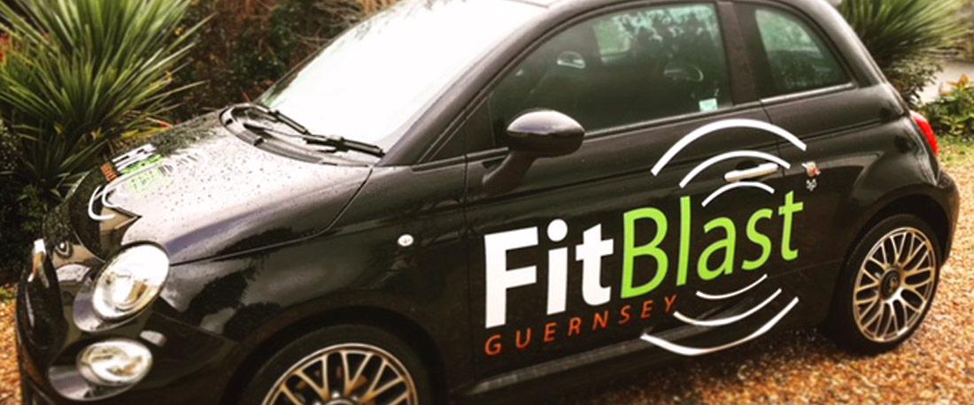 FitBlast Guernsey Logo Design