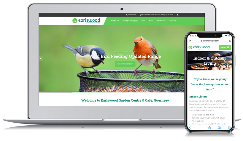 Earlswood Garden Centre Guernsey Web Design