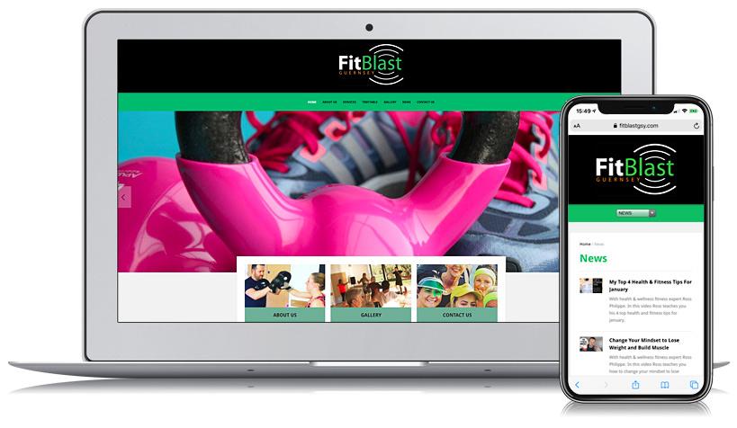 Fitblast Guernsey Web Design