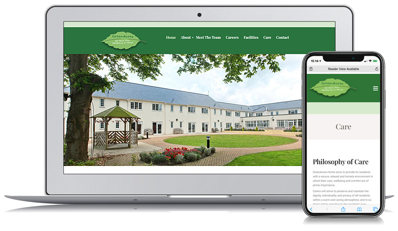 GreenAcres Guernsey Web Design