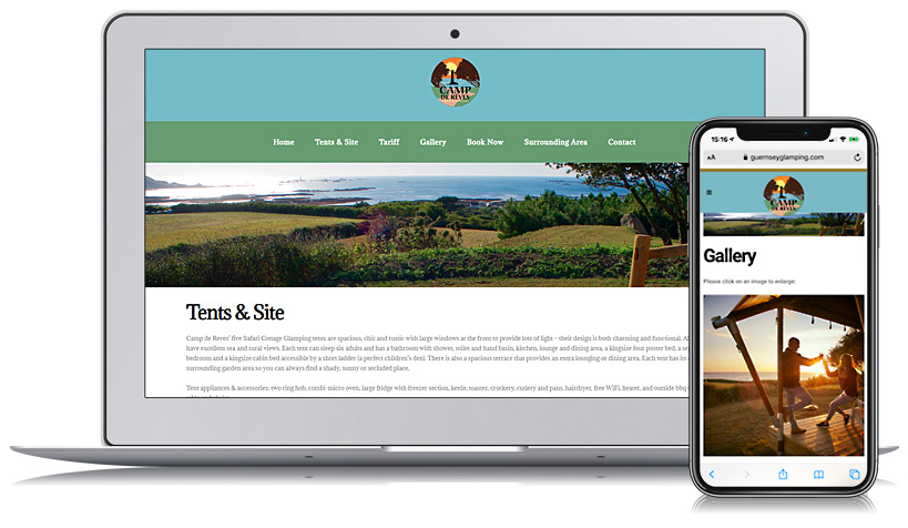 Guernsey Glamping Web Design