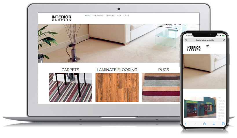 Interior Carpets Guernsey Web Design