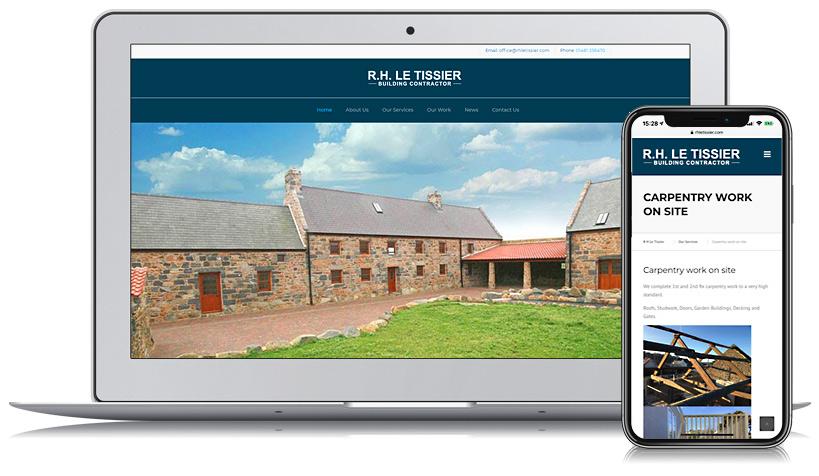 RH Le Tissier Guernsey Web Design