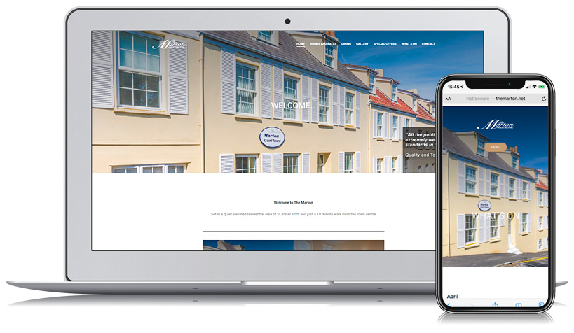 The Marton Guernsey Web Design