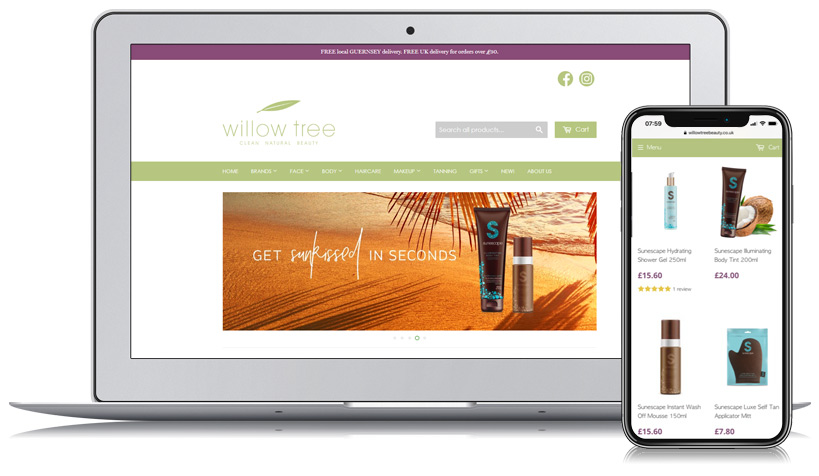 Willow Tree Beauty Guernsey Web Design