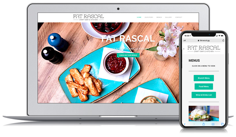 Fat Rascal Guernsey Web Design