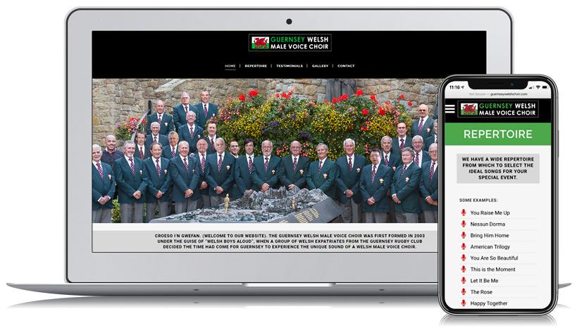 Guernsey Welsh Male Voice-choir Guernsey Web Design