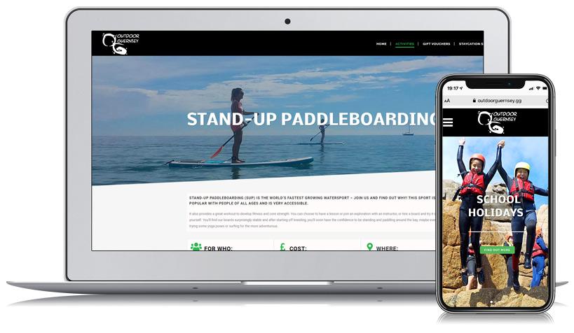 Outdoor Guernsey Web Design